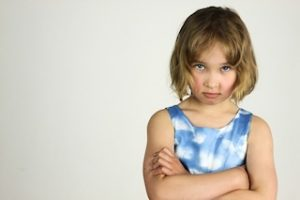 Subconscious protection can show as a tantrum or sulk if emotionally overwhelmed